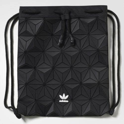 Adidas x 三宅一生 聯名款 限量 束口後背包 黑色 男女可背