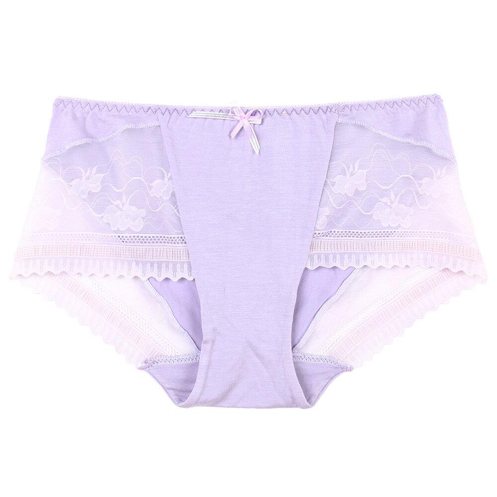全館免運【Emon】蘆薈保濕呵護系列平口褲(淺紫) 1