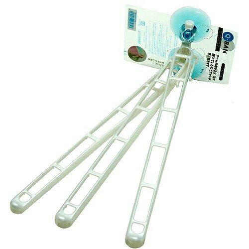 晨光進口生活用品:Q-BAN吸盤式多條毛巾架(藍、粉2色)-(079730)【現貨】