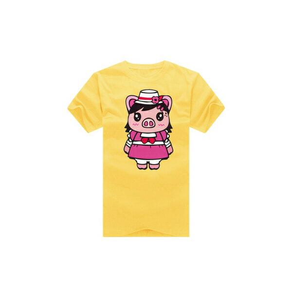 T恤 親子裝 全家福  可客製化 MIT台灣製純棉短T 班服◆快速出貨◆獨家配對情侶裝.粉紅小豬夫妻【YC282】可單買.艾咪E舖 5