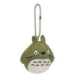 【真愛 】5051000093 tQ版珠鍊小吊飾-綠龍貓  龍貓 TOTORO 鑰匙圈 掛飾