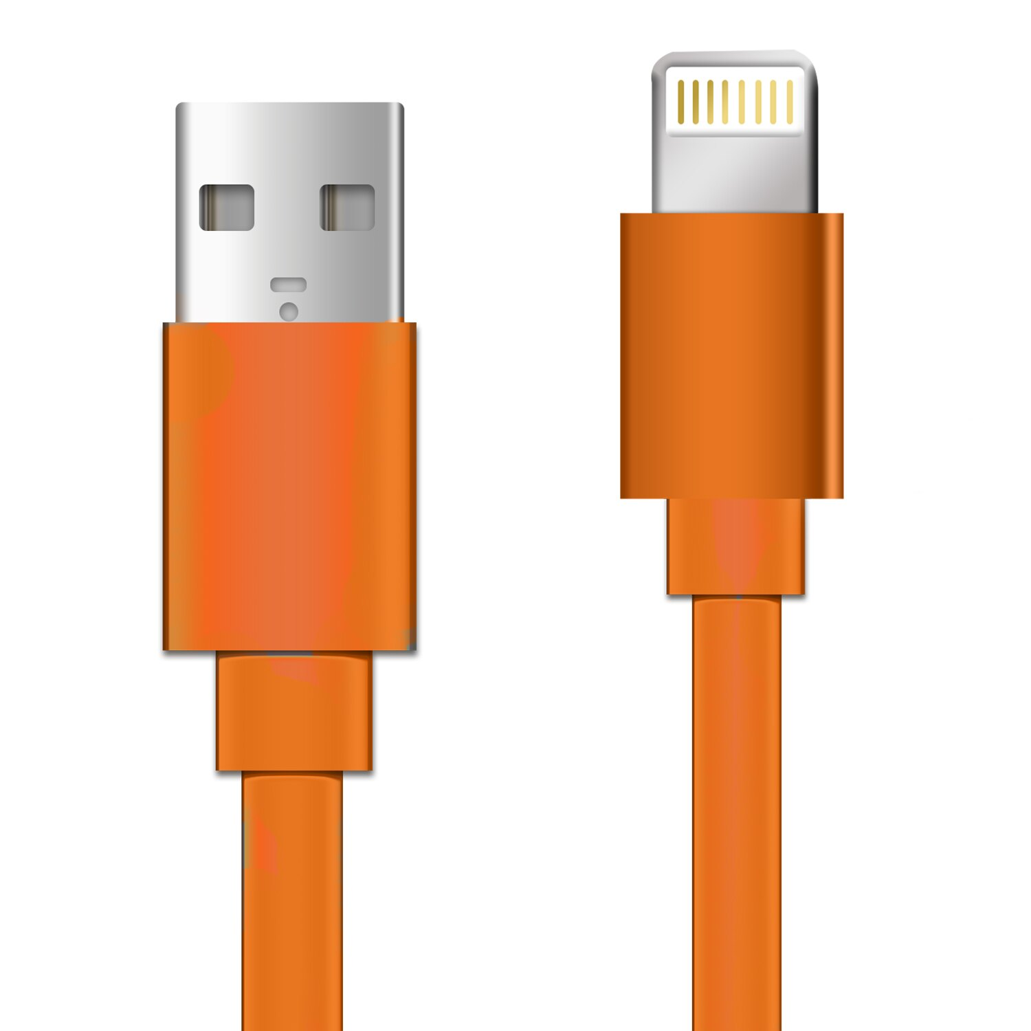 8 Pin Lightning to USB 3ft Flat Tangle Free Data Sync and Charge Cable for Apple Ipod, Iphone 5/5s/5se/6/6s/7, Ipad 3