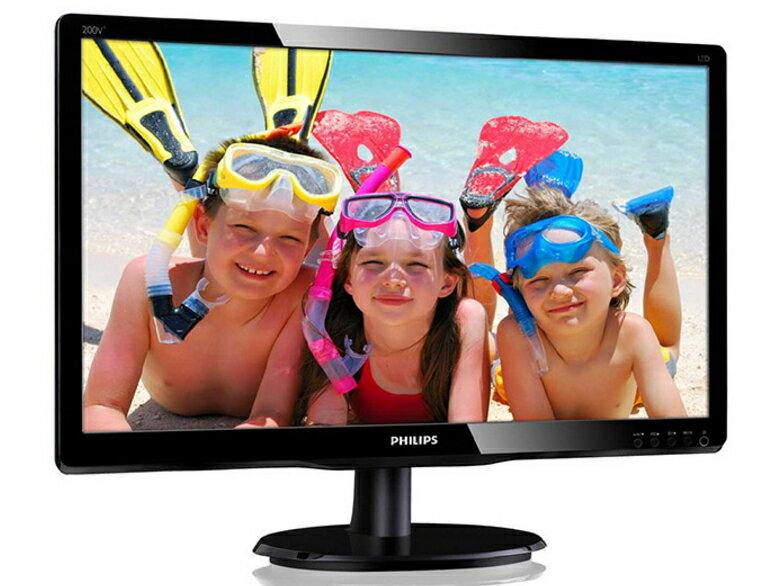 ★綠光能Outlet★福利品★ PHILIPS 200V4QSBR 20型MVA寬液晶螢幕顯示器