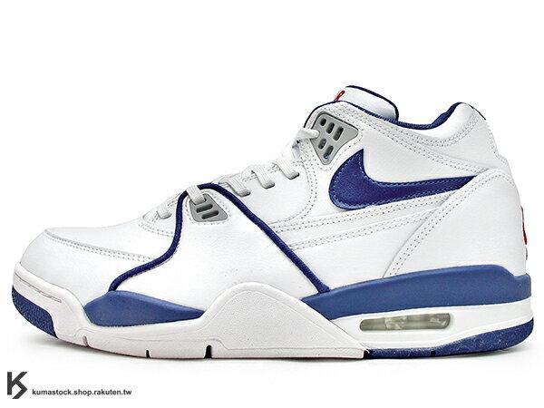 2020 NSW 與 AIR JORDAN 4 IV 同鞋型 1989年 經典復刻 NIKE AIR FLIGHT 89 '89 白深藍 皮革 AJ (CN5668-101) 0120 0