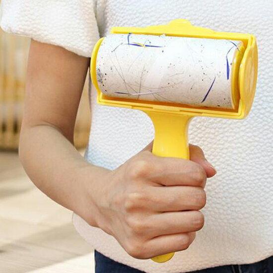 ♚MY COLOR♚帶蓋斷點可撕黏毛器 除塵 黏貼 沾黏 滾毛 衣物 寵物 清潔 滾筒 打掃 衛生【N68】