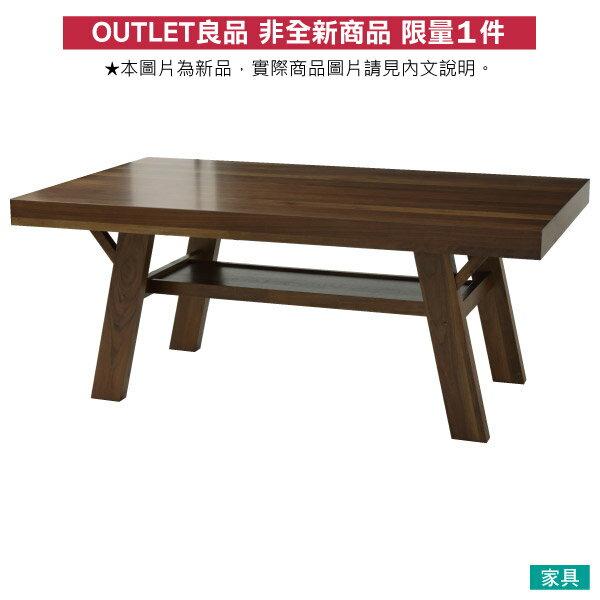 【馬小姐專用】◎(OUTLET)實木餐桌 FRANS 180 DBR 橡膠木 福利品 NITORI宜得利家居 0