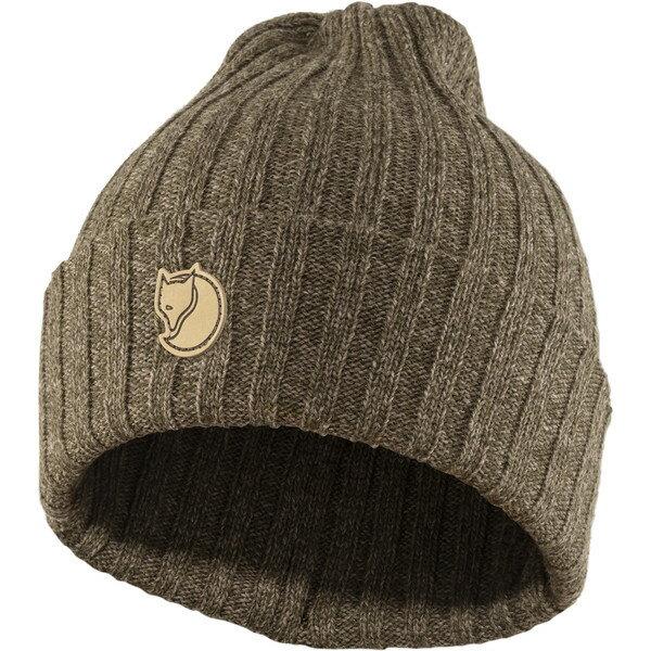 【Fjallraven小狐狸瑞典】ByronHat保暖帽編織帽毛線帽毛帽冬季旅遊賞雪雪地保暖深橄欖灰褐(77388)