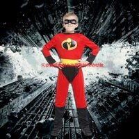 蝙蝠俠與超人周邊商品推薦GTH-1520雷射小超人化裝舞會表演造型派對服(S/M/L)