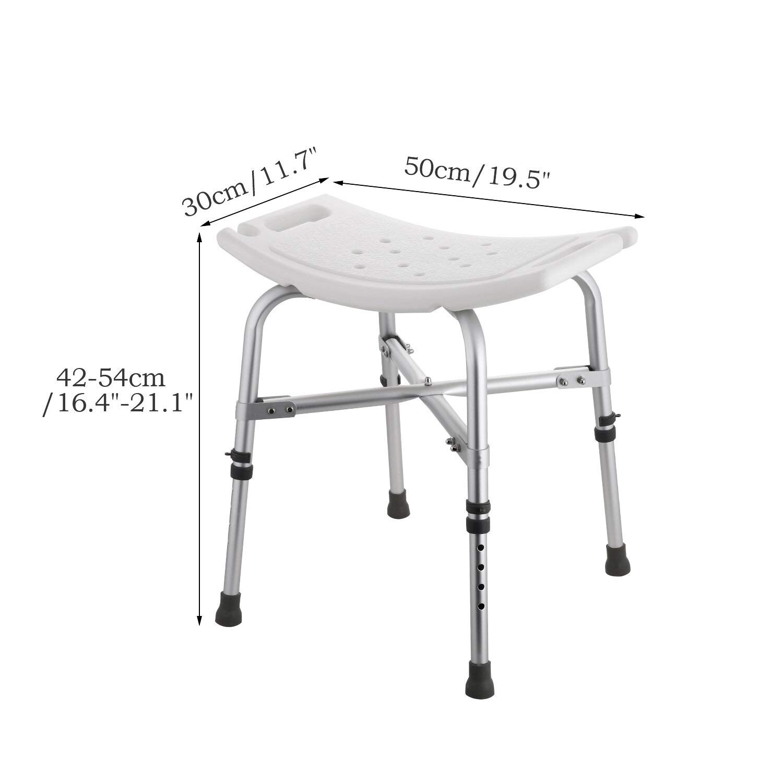 Modrine Shower Stool,Spa Bathtub Shower Lift Chair, Protable Bath Seat,  Adjustable Shower Bench,White Bathtub Lift Chair With 1.25mm Cross Brace,  ...