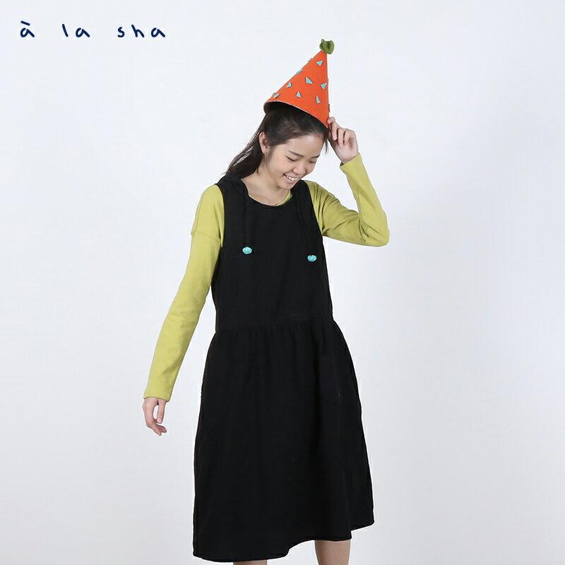 a la sha enco 點點包球連帽洋裝