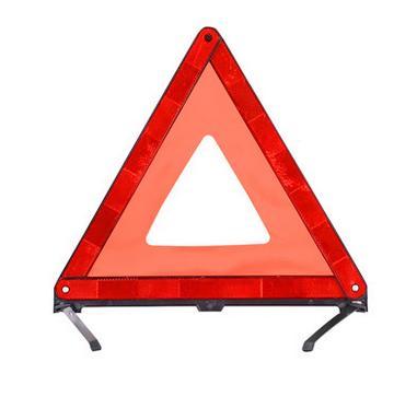 【汽車三角警示牌-總邊長40CM-1個/組】車用故障臨時停車牌國標折疊式反光安全三腳警示架-527101