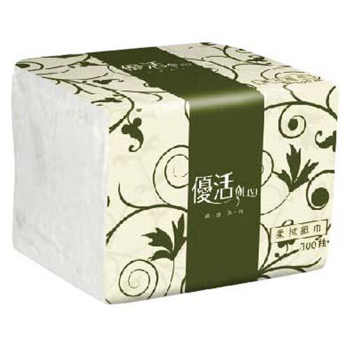 【優活Livi】TR1BL3-2A 綠波系列 300抽紙巾 (1箱30包)