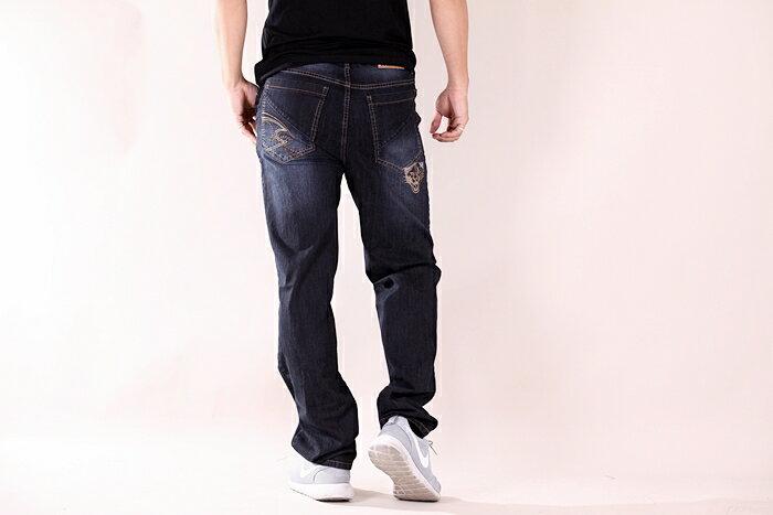 【CS衣舖 】台灣製造 刺繡 精品質感 超彈力 透氣 牛仔長褲 6561 5