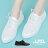 【KWH33】基本款簡約綁帶休閒鞋 小白鞋 2.5CM跟高 透氣洞洞皮革材質 2色 0