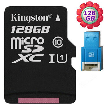 【R10讀卡機】KINGSTON 128GB 128G 金士頓【80MB/s】microSDXC microSD SDXC micro SD UHS-I UHS U1 TF C10 Class10 手..