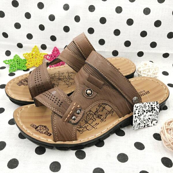 【限量優惠】男款輕量兩穿式拖鞋[96076]棕超值價$200