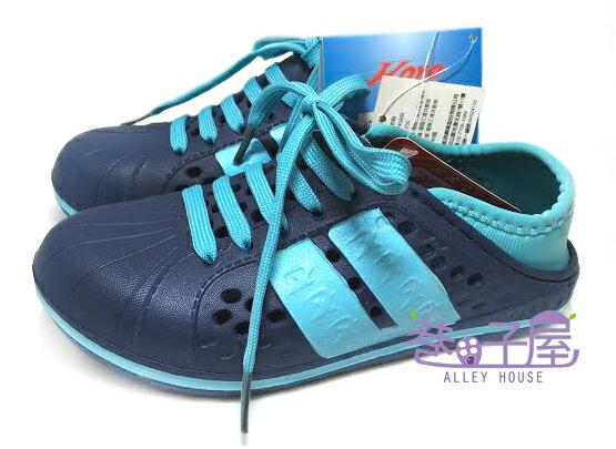 【巷子屋】KOYO 童款兩穿式夏日輕便洞洞鞋 拖鞋 鞋帶可拆 [45906] 藍 超值價$100