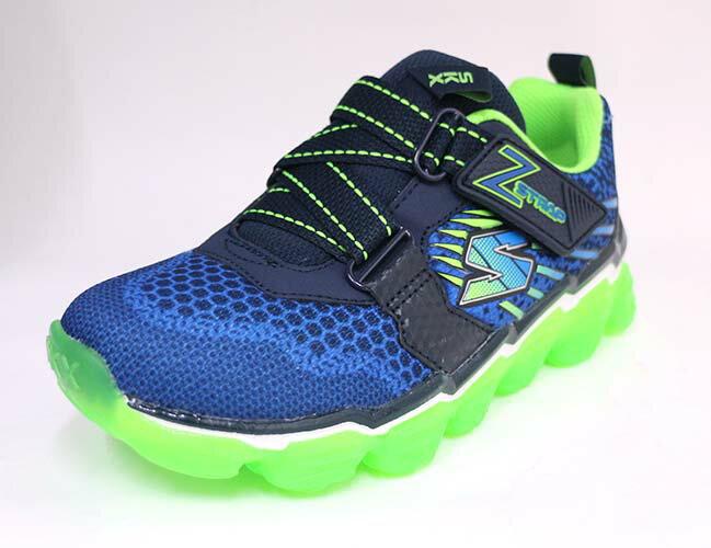 SKECHERS (童) 男童系列 BOYS SKECH AIR 半透明氣墊 休閒 運動鞋 - 97423LNVLM 藍x綠【陽光樂活】