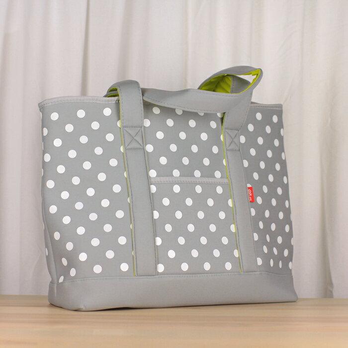 ~ CB JAPAN~水玉點點系列可洗可拆保冷托特肩揹袋20L~銀灰色 野餐袋  便當袋