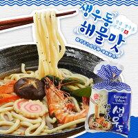 韓國泡麵推薦到【韓太】韓式手打烏冬麵-海鮮(1袋3包入) x 2袋入就在K-Mart推薦韓國泡麵