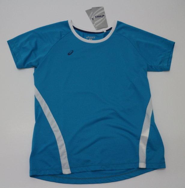 [陽光樂活] ASICS 亞瑟士 女運動T恤 透氣 排汗 舒適 CFK277-42 天藍