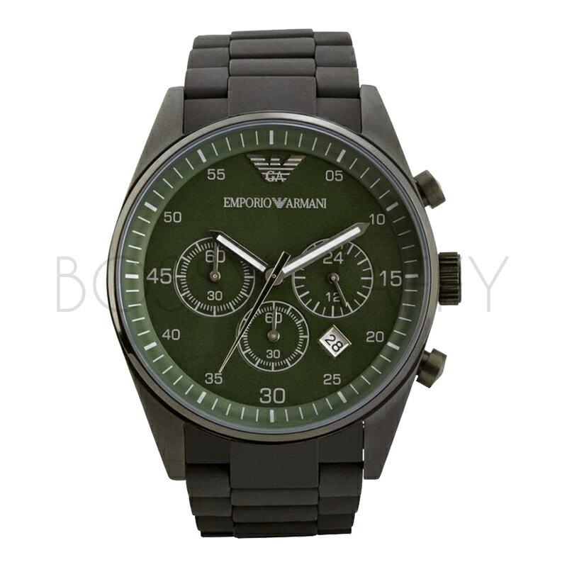 AR5922 ARMANI 亞曼尼 型男深邃綠盤運動風男錶