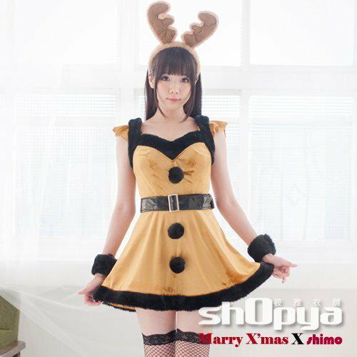 卡哇伊麋鹿造型聖誕服 動物造型服裝 COSPLAY 攝影寫真 筱雅衣舖【BT1020】