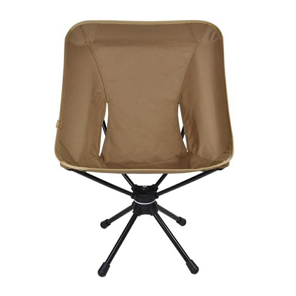 戶外折疊椅 戶外折疊椅360度可旋轉休閒椅輕便攜釣魚椅鋁合金露營旋轉椅JD【韓國時尚週】 0