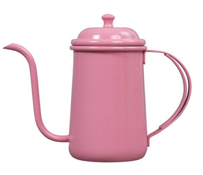 金時代書香咖啡 正晃行 AKIRAKOKI 馬卡龍色不銹鋼細口手沖壺 粉紅色 C9-PK