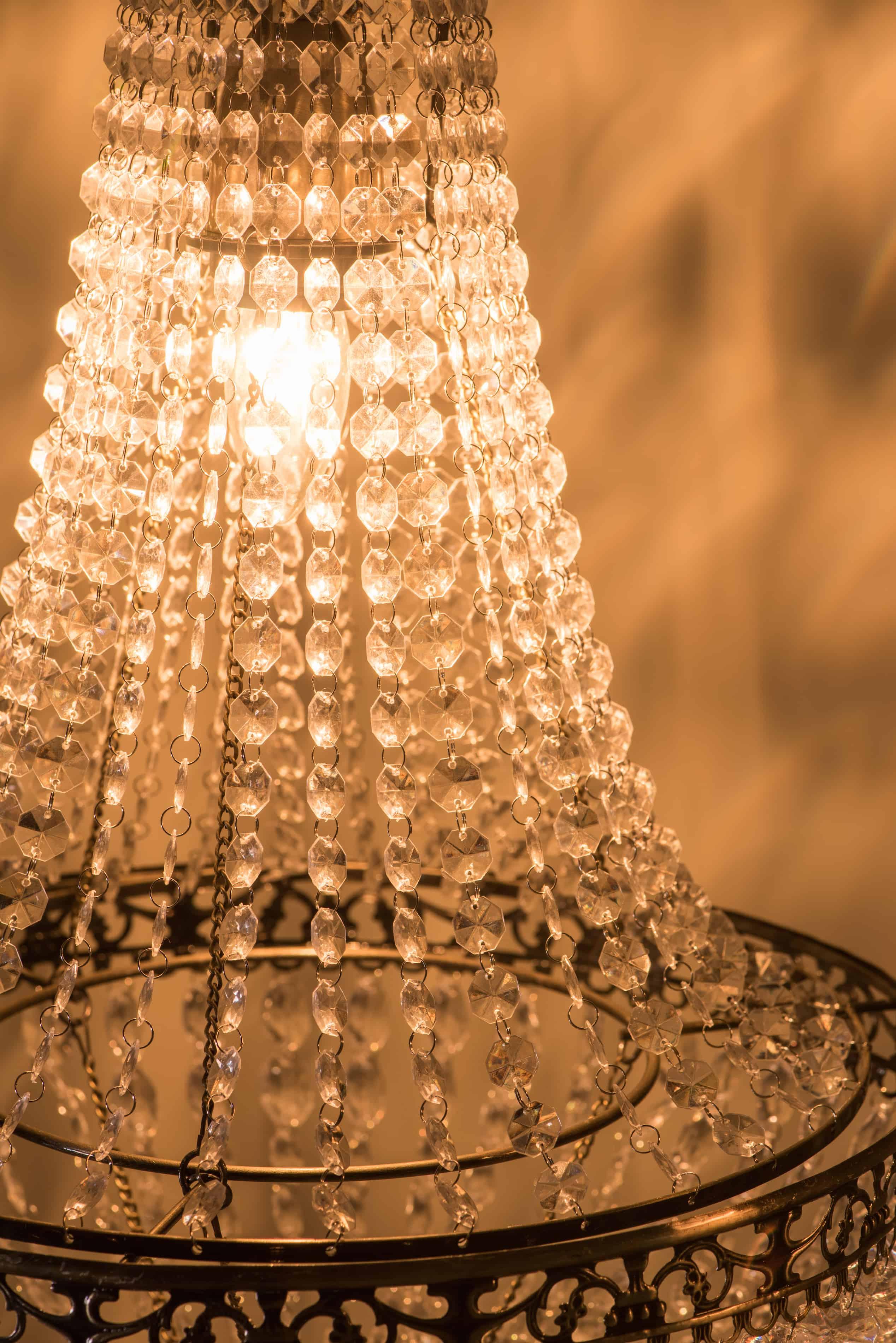 古銅華麗透明壓克力珠吊燈-BNL00050 8