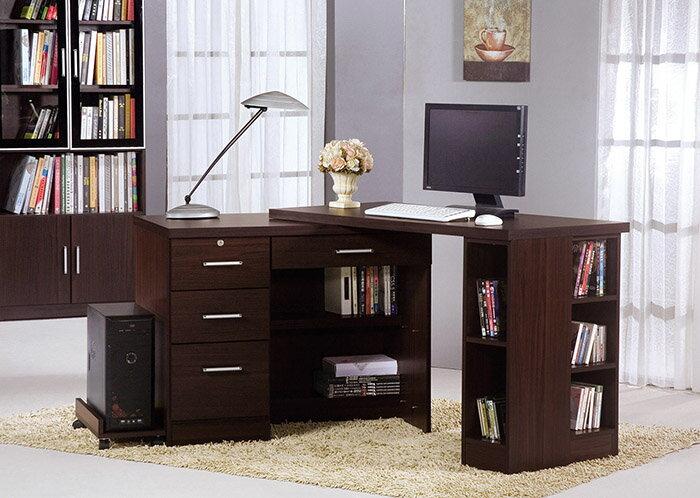【尚品傢俱】HY-A488-04 肯尼胡桃4尺伸縮功能桌