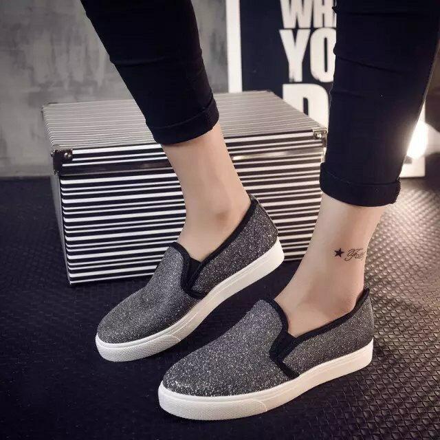 Ms.Perfect 樂福鞋亮片平底休閒鞋