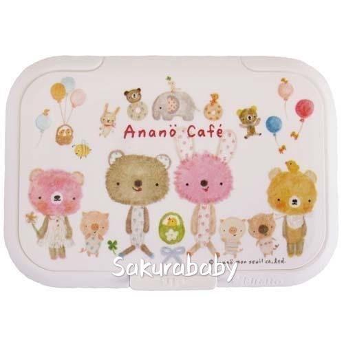 日本製 Anano Cafe 濕紙巾蓋 濕紙巾保濕 單手開關蓋 可重覆黏貼使用 櫻花寶寶