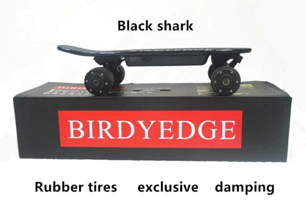 BIRDYEDGE電動滑板黑色鯊魚翹翹板街頭滑板【迪特軍】