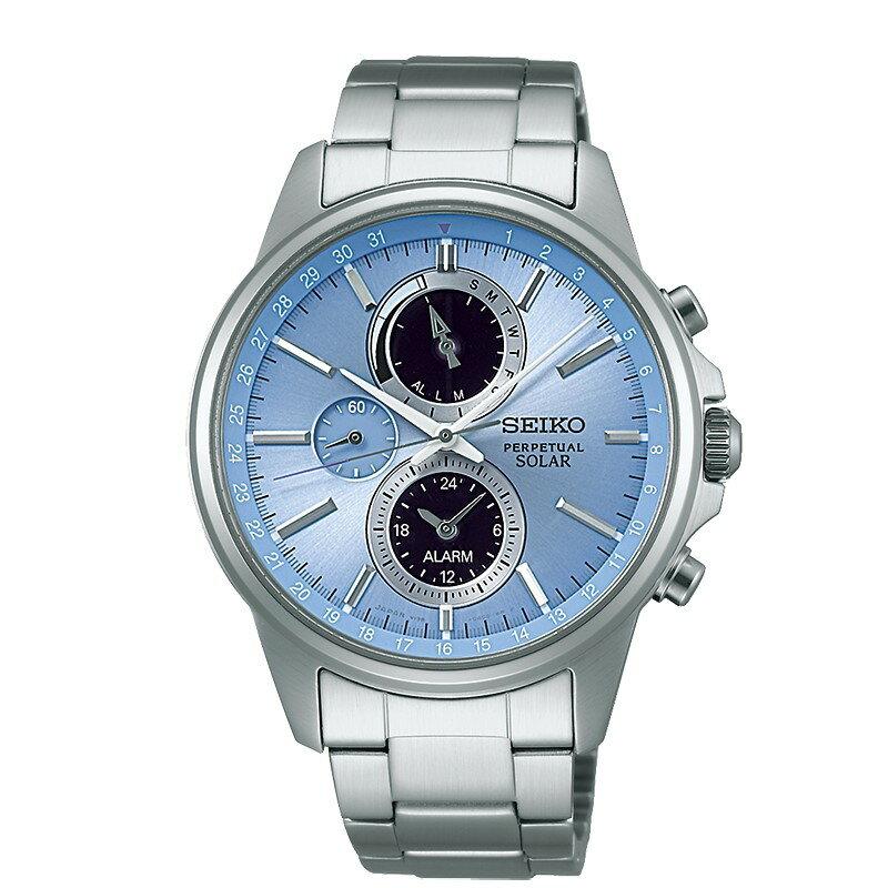 SEIKO SPIRIT SMART太陽能多功能腕錶/V198-0AC0B/SBPJ001J