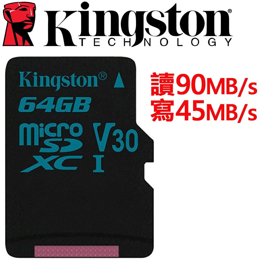 Kingston 金士頓 64GB microSDXC TF UHS-I U3 V30 記憶卡 SDCG2/64GB
