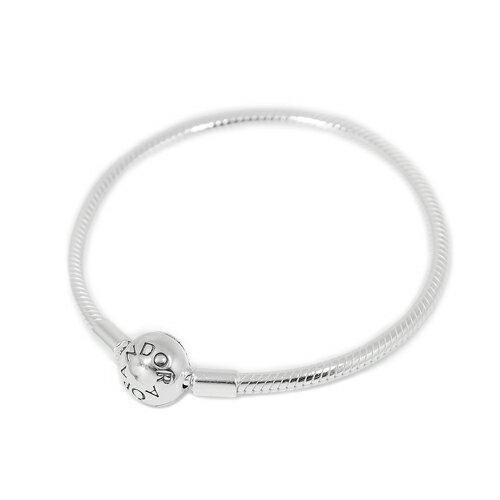 (Smile) Pandora 潘朵拉 圓珠蛇鍊925純銀手鍊手環