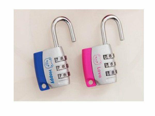 BO雜貨【SV6171】韓版 可愛小熊創意旅行箱密碼鎖 鋅合金三位元密碼掛鎖 安全掛鎖 出國旅遊必備