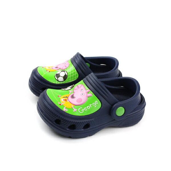 HUMAN PEACE:粉紅豬小妹布希鞋防水雨天童鞋深藍色中童G002608no712