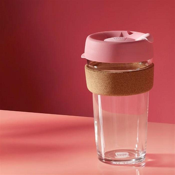 澳洲 KeepCup 隨身杯 軟木系列 L - 甜心粉
