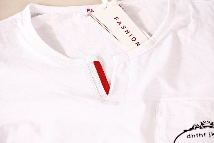 【CS衣舖 】加大尺碼 韓系 合身版 萊卡彈力 短袖T恤 2L-3L 7204 5