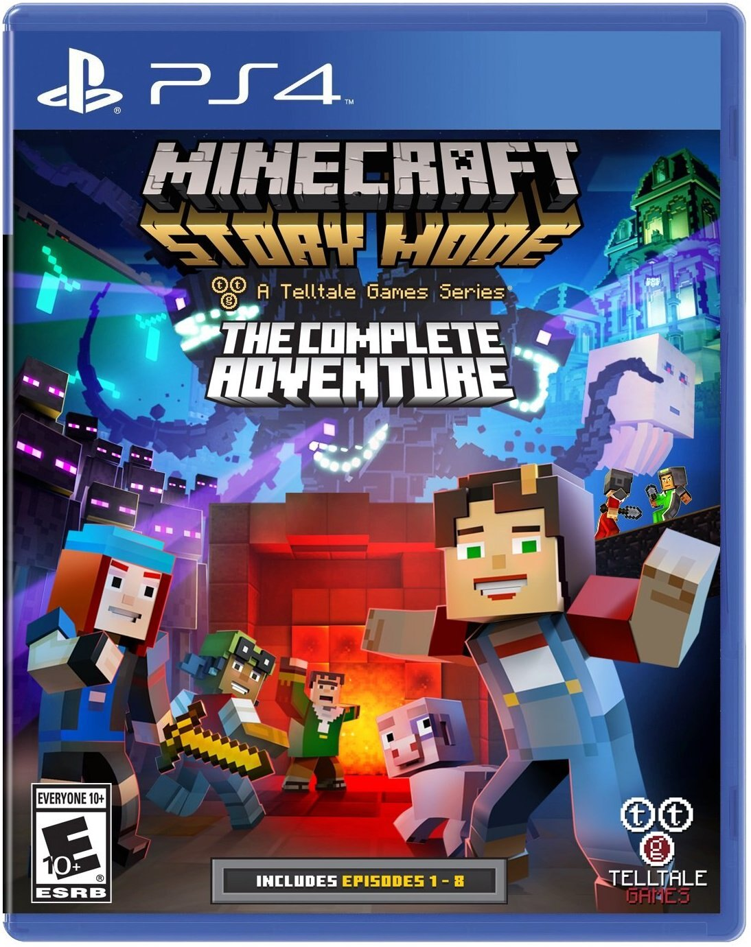 PS4 我的世界:故事劇情模式完整版(含1-8章節) -中文英文美版-Minecraft Story Mode Complete Edition
