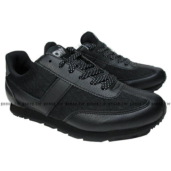 《限時特價799元》 Shoestw【63W1SO71BK】PONY復古慢跑鞋 全黑 彩色字 女款 0