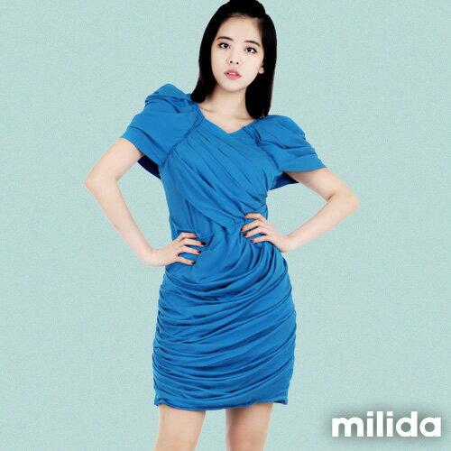 【Milida,全店七折免運】-夏季洋裝-造型款-甜美公主袖設計 8