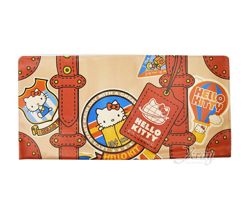 Hello Kitty 卡片套-行李箱,票夾/收納包/多功能卡片套/收集冊/存摺簿套/護照套/文件套/登機證,X射線【C581424】