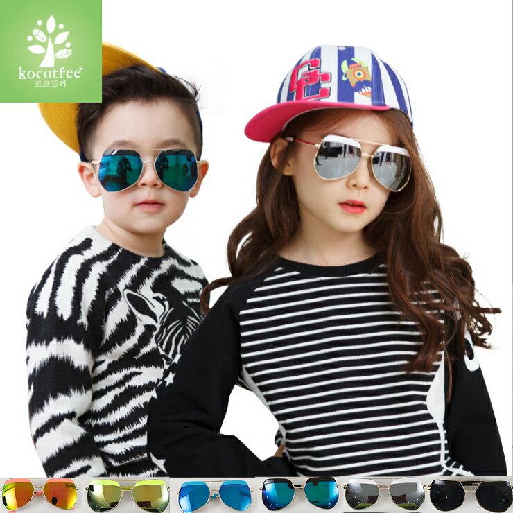 Kocotree◆時尚質感鏡框弧度紫外線護目兒童成人親子款炫彩太陽眼鏡