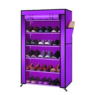 組合鞋架 鞋櫃│六層單排DIY鞋架(含頂層) 防塵鞋架 鞋櫃 鞋子收納 2