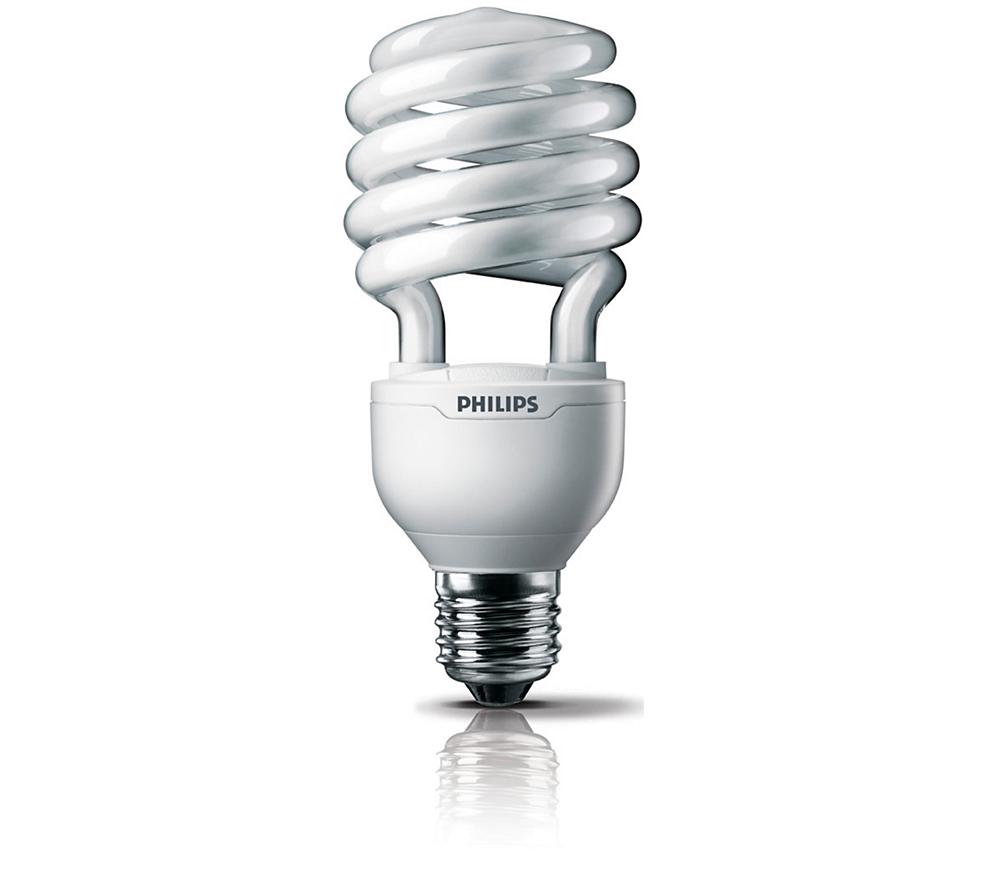 philip飛利浦 Helix 28W 螺旋省電燈泡 (2入) 黃光