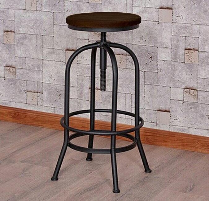 !新生活家具!《貝蒂》工業風 旋轉 升降 吧檯椅 鐵椅 復古 商業空間 美式 機械風