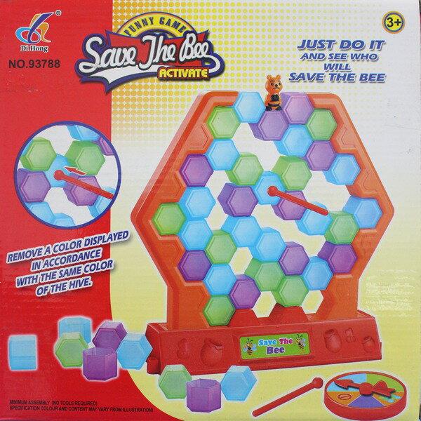 蜂巢疊疊樂推推樂 NO.93788蜜蜂窩推推樂 益智玩具 一盒入^~促200^~親子桌遊^